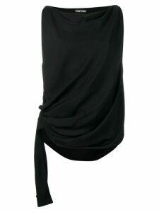 Tom Ford draped sleeveless blouse - Black