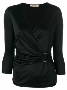 Roberto Cavalli 3/4 sleeves blouse - Black