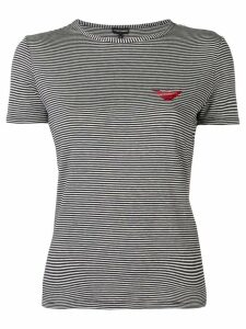 Emporio Armani logo striped T-shirt - Black