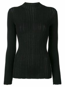Acne Studios slim fit ribbed sweater - Black