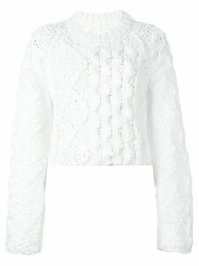 Maison Margiela cable knit sweater - White