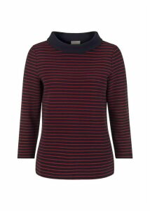 Coleta Top Navy Red