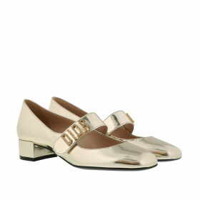 Christian Dior Pumps - Baby-D Ballerina Calf Leather White - gold - Pumps for ladies
