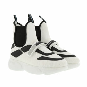 Prada Sneakers - Cloudbust High Top Sneakers White/Black - white - Sneakers for ladies