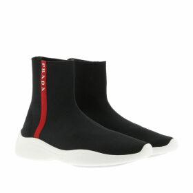 Prada Sneakers - Knitted Sock Sneakers Nero/Bianco - black - Sneakers for ladies