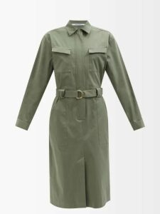 2 Moncler 1952 - Roll-neck Cotton-blend Sweater - Womens - Blue Multi