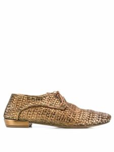 Marsèll woven oxford shoes - GOLD