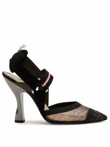 Fendi Colibri sling-back pumps - Black