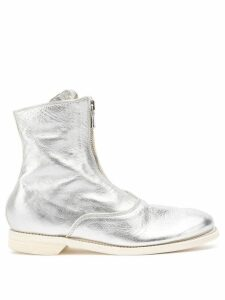 Guidi zipped ankle boots - Silver
