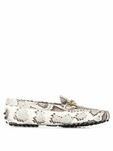 Tod's snakeskin loafers - NEUTRALS