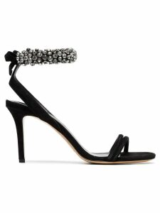 Isabel Marant Black Alrin 85 Suede Leather Sandals