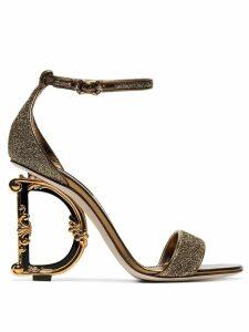Dolce & Gabbana G glitter sandals - GOLD