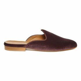 Le Monde Beryl Dusty Purple Velvet Venetian Mule