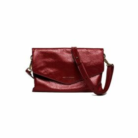 Holly & Tanager - Explorer Crossbody Clutch In Red Patent Leather