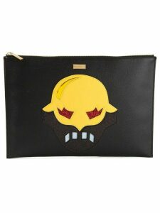 Stella McCartney appliqué mask clutch - Black