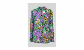 Simone Floral Print Silk Shirt