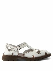 Shrimps - Fio Checked Wool Blend Sweater - Womens - Green Multi