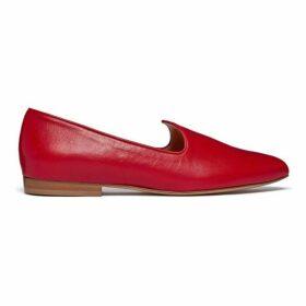Le Monde Beryl Marlboro Red Leather Venetian Slipper