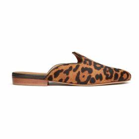 Le Monde Beryl Leopard Calf Hair Venetian Mule