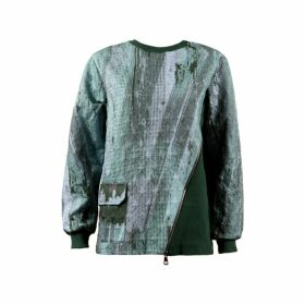 Boo Pala London Green & Grey Strata Sweatshirt