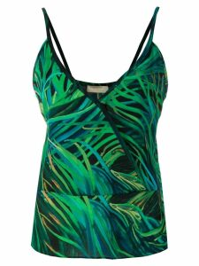 Elie Saab printed cami top - Green