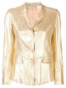 Sylvie Schimmel metallic leather jacket - GOLD