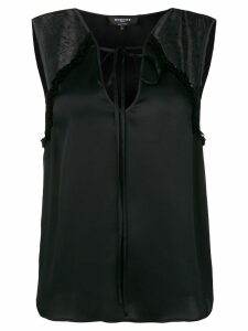 Rochas lace inserts tank top - Black