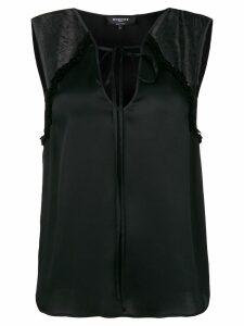 Rochas lace inserts tank top - Black