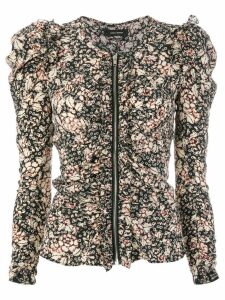 Isabel Marant abstract print blouse - Multicolour