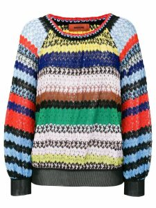 Missoni striped crochet-knit sweater - Multicolour