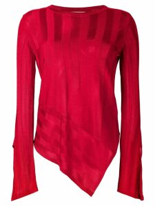 Palmer / Harding asymmetric hem sweater - Red