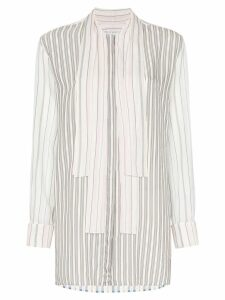 JW Anderson PYJAMA STRIPE BUTTONDOWN SHIRT - White