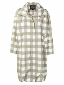 Woolrich checked raincoat - Green