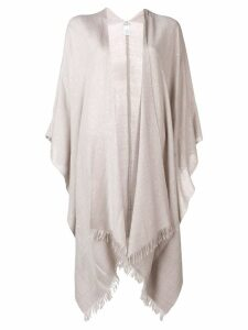 Brunello Cucinelli oversized sequinned cardigan - NEUTRALS