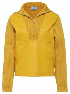 Prada ribbed zipped jumper - Yellow