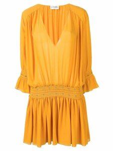 Saint Laurent studded Georgette dress - Yellow