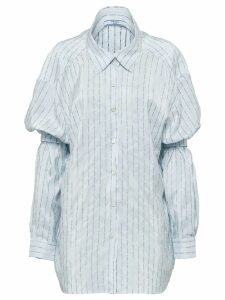 Prada shoulder straps pongé shirt - Blue