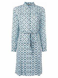 Bottega Veneta geometric print shirt dress - Blue