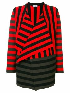Akris Punto striped waterfall hem cardigan - Red