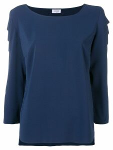 Akris Punto scalloped sleeve blouse - Blue