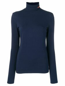 Calvin Klein 205W39nyc logo embroidered turtleneck sweatshirt - Blue