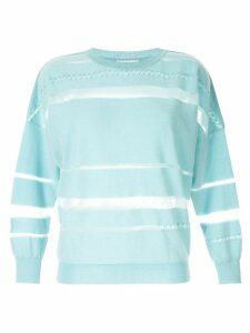 Onefifteen sheer panel jumper - Blue