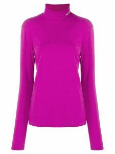 Calvin Klein 205W39nyc logo embroidered turtleneck sweatshirt - Purple