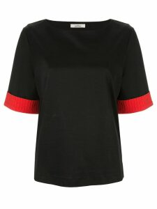 Onefifteen contrast sleeve T-shirt - Black
