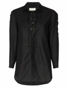 Saint Laurent lace-up shirt - Black