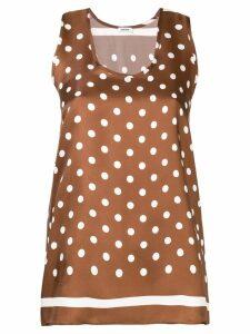 P.A.R.O.S.H. dotted silk blouse - Brown