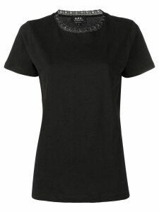 A.P.C. lace neck T-shirt - Black