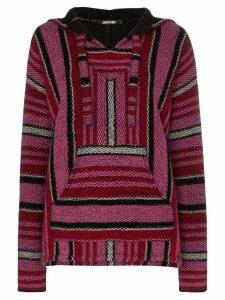 Adaptation Baja stripe cashmere hoodie - Pink