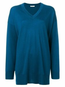 The Row V-neck loose jumper - Blue