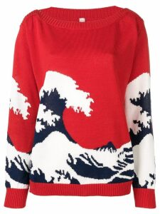 Antonio Marras boat neck jumper - Red